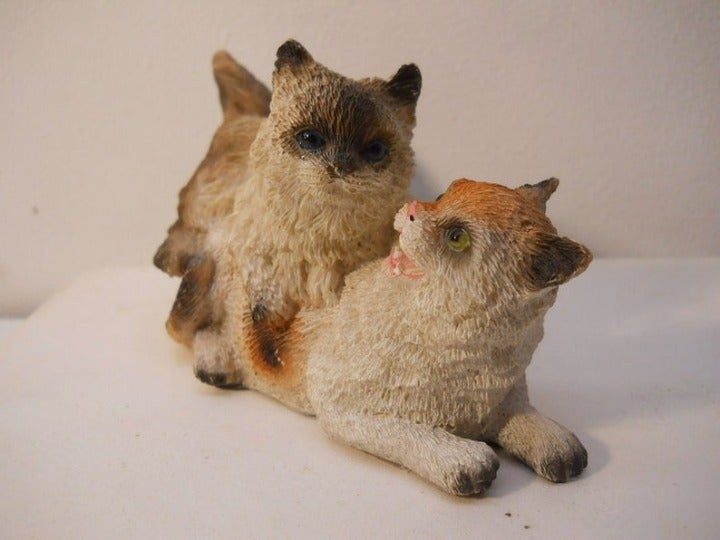 Kittens Playing Double Cats Figurine