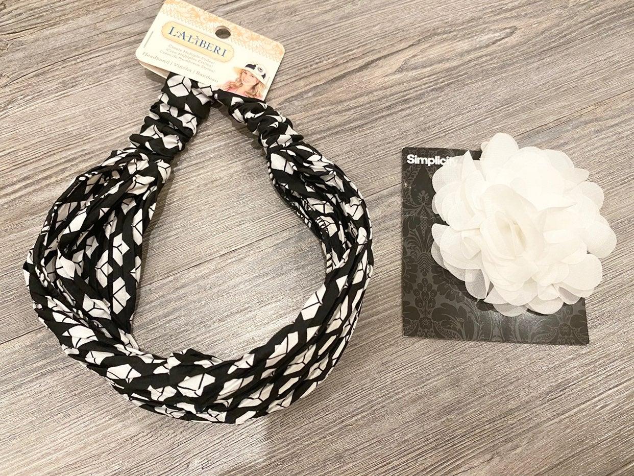 NWT LaLiBeri Headband and Flower Appliqu