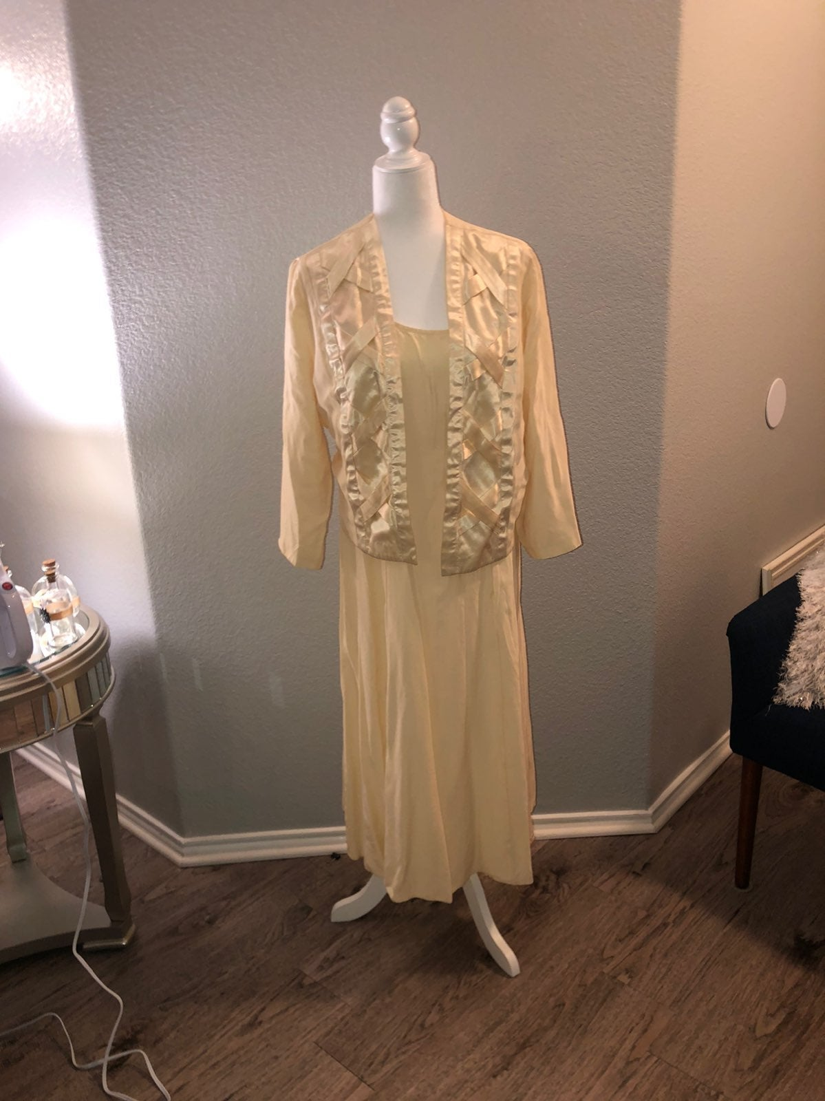 Womens Vintage Satin Nightgown
