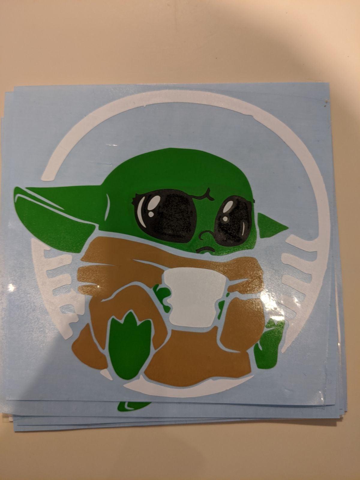 Baby Yoda vinyl decal