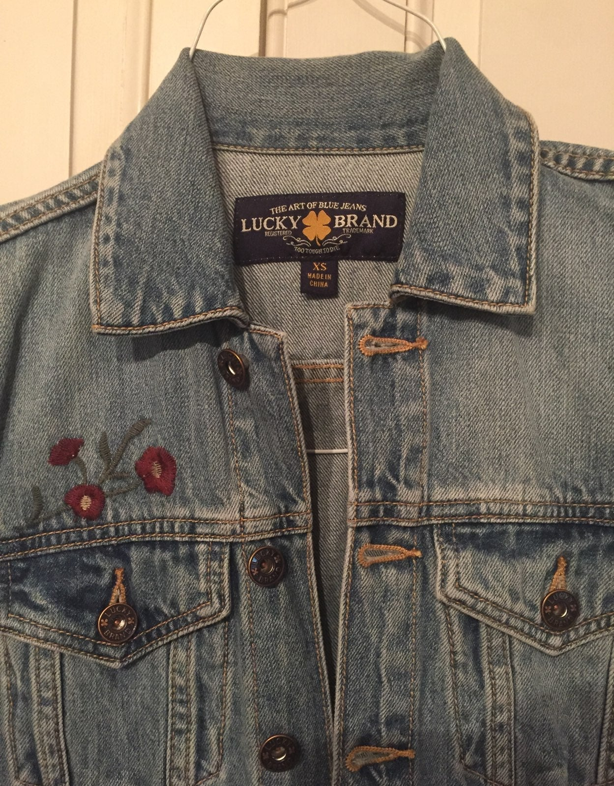 Lucky Brand Jean Jacket Embroidered