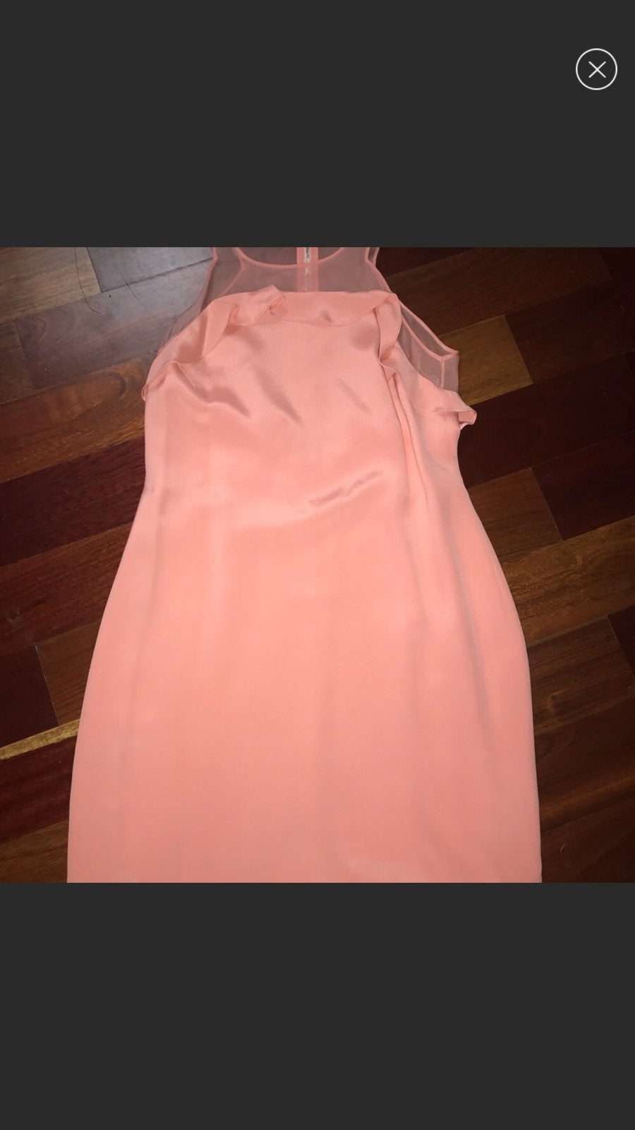 Rebecca taylor ruffle silk dress pink 8