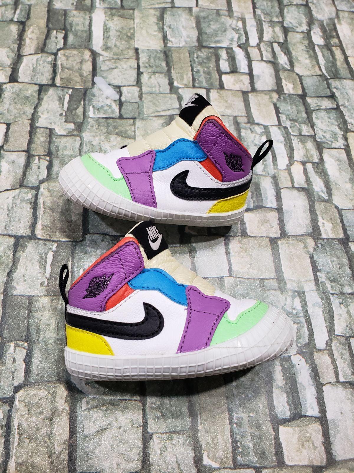 Jordan 1 Crib shoe Multicolor Baby sz 3c