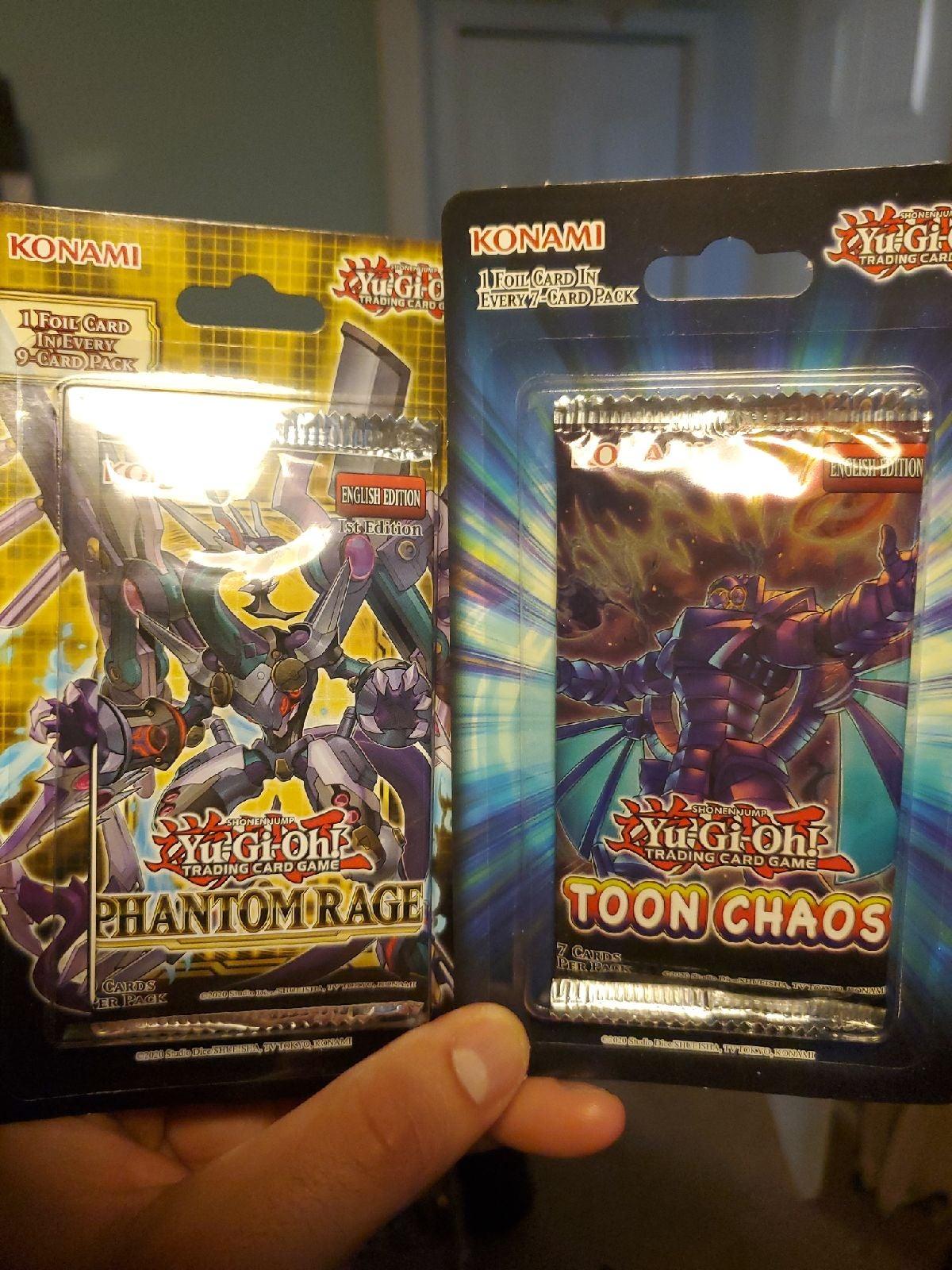 Yugioh phantom rage blister n toon chaos