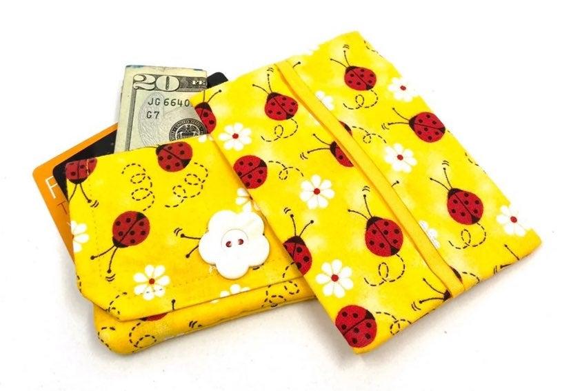 New Ladybug Fabric Wallet Gift Set