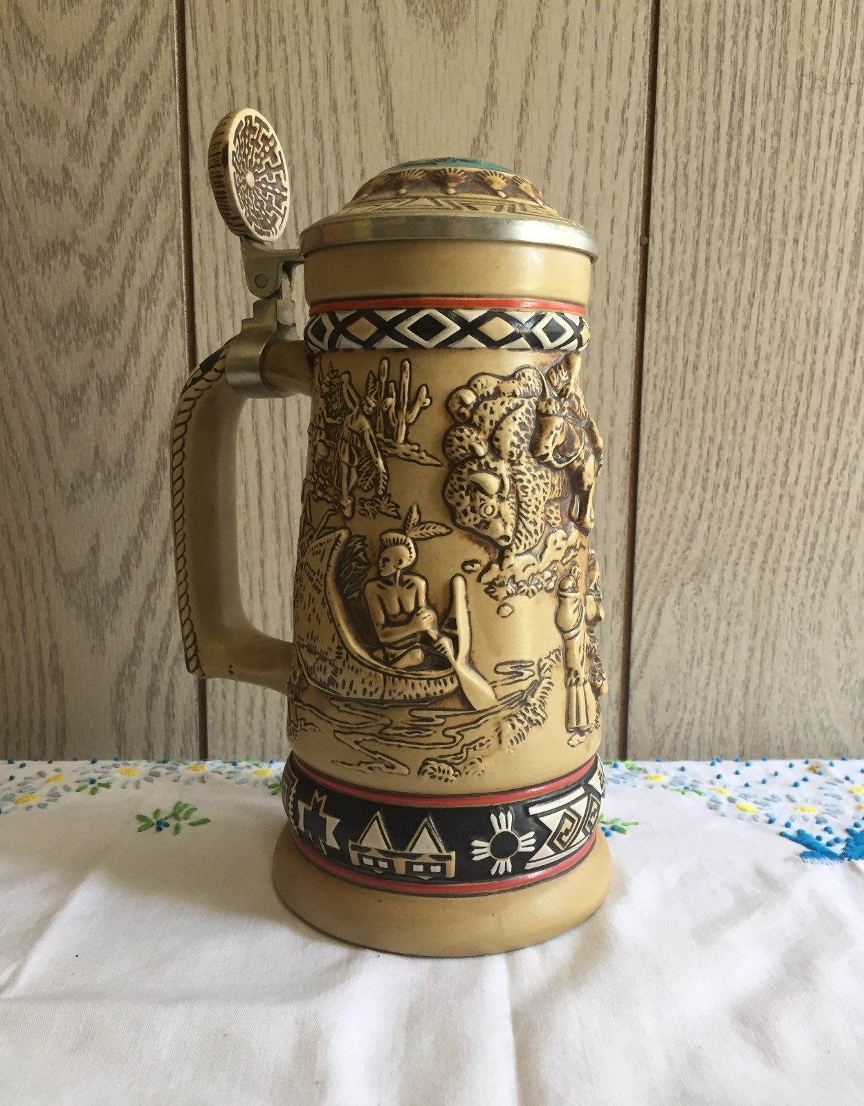 Indians of the American frontier stein
