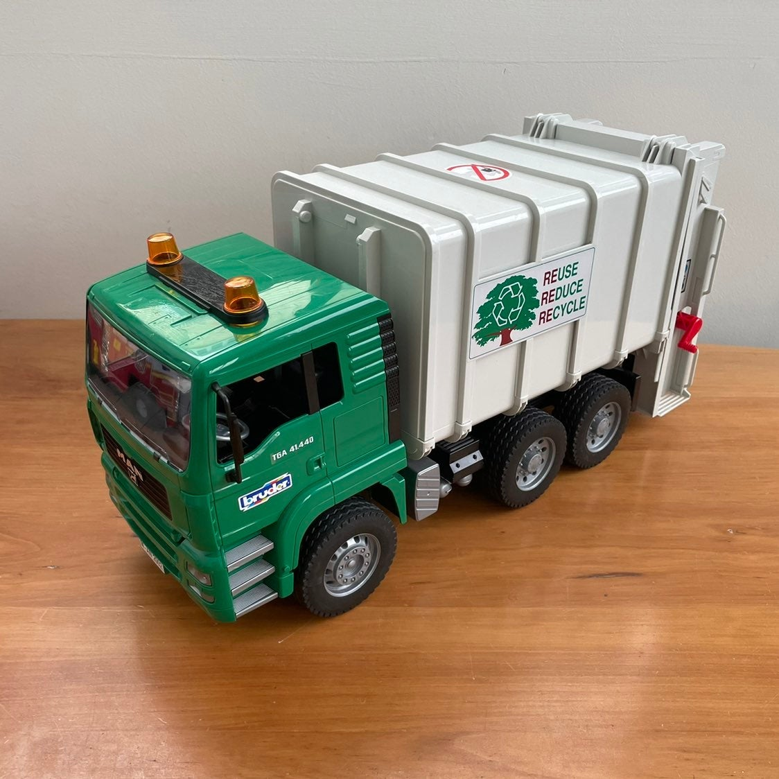 Bruder recycling truck with bins