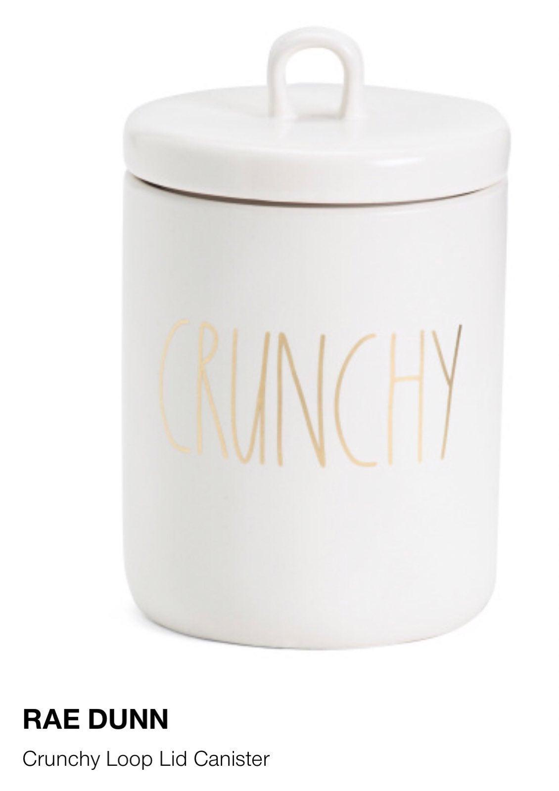 Rae Dunn Crunchy Canister