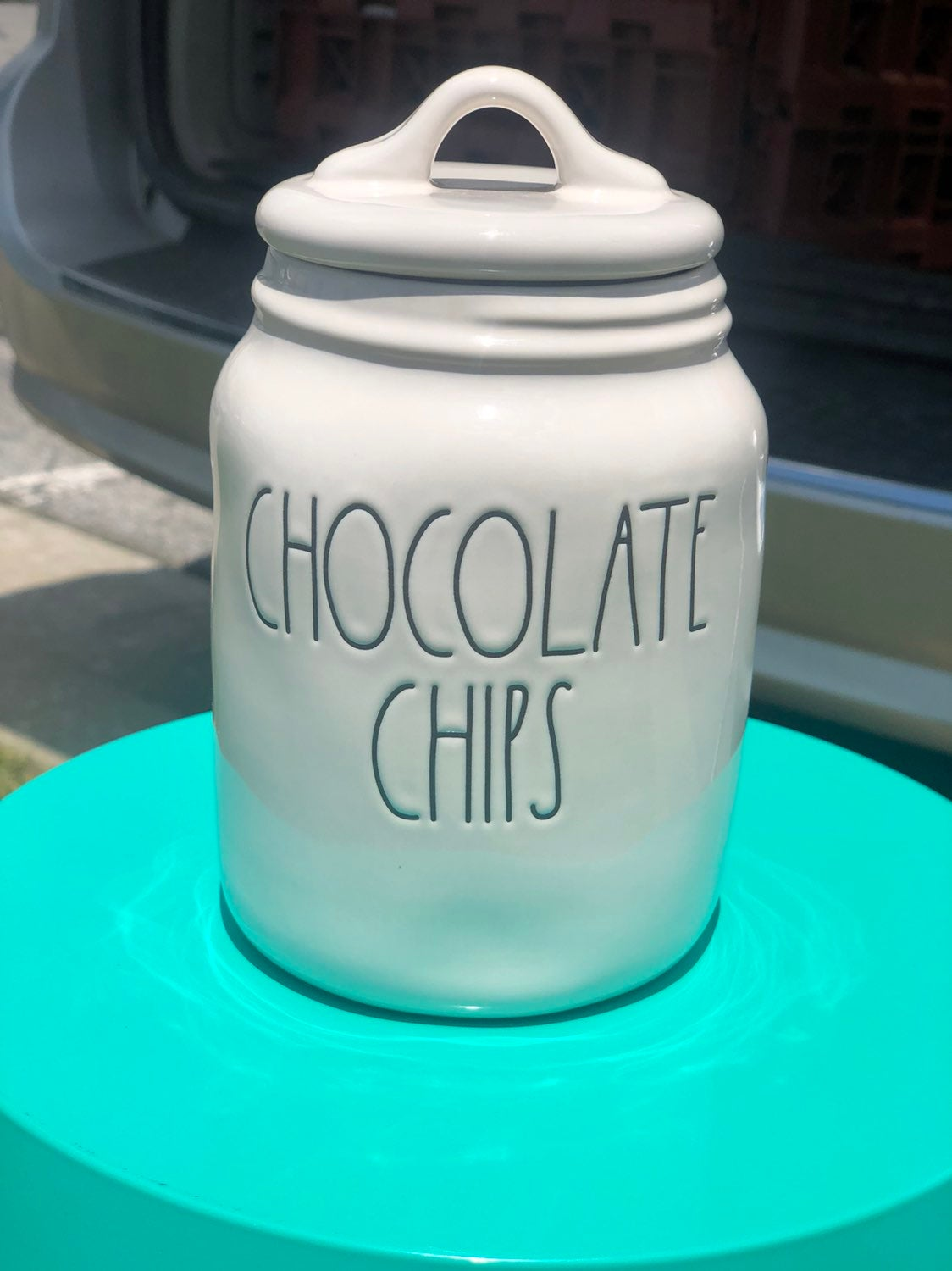 Rae Dunn chocolate chips canister