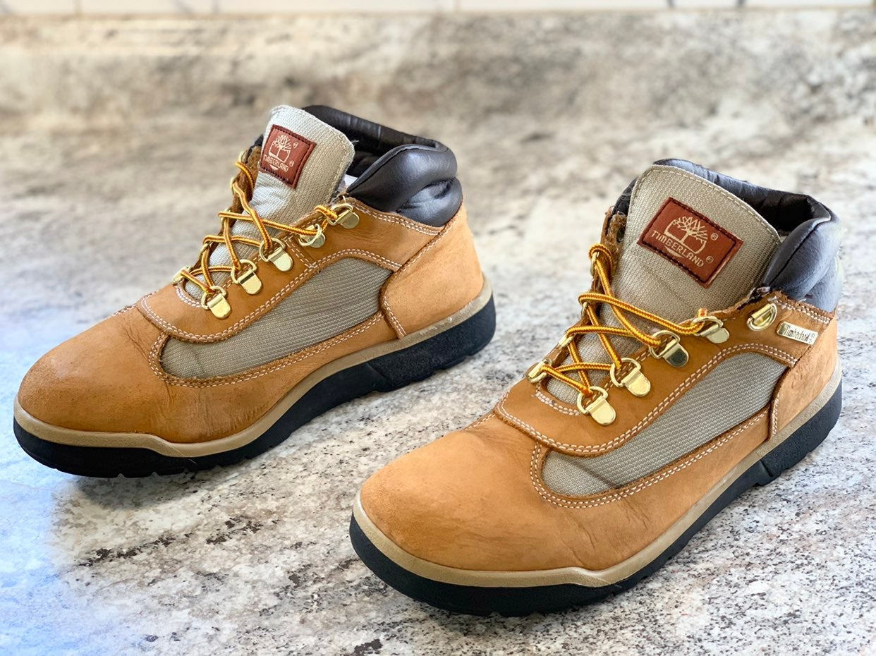 Timberland Field Boots Kid Size 7Y Wheat