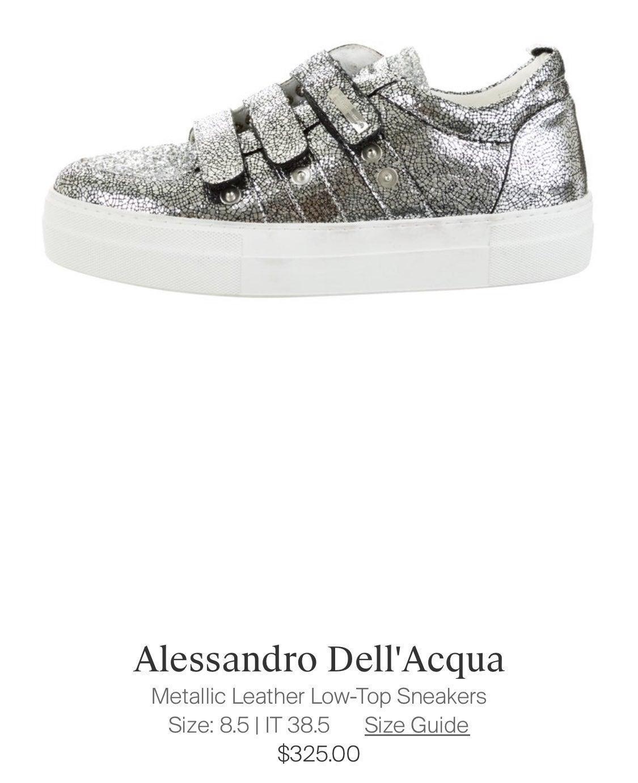 Alessandro Dell'Acqua Silver Sneaker Wom