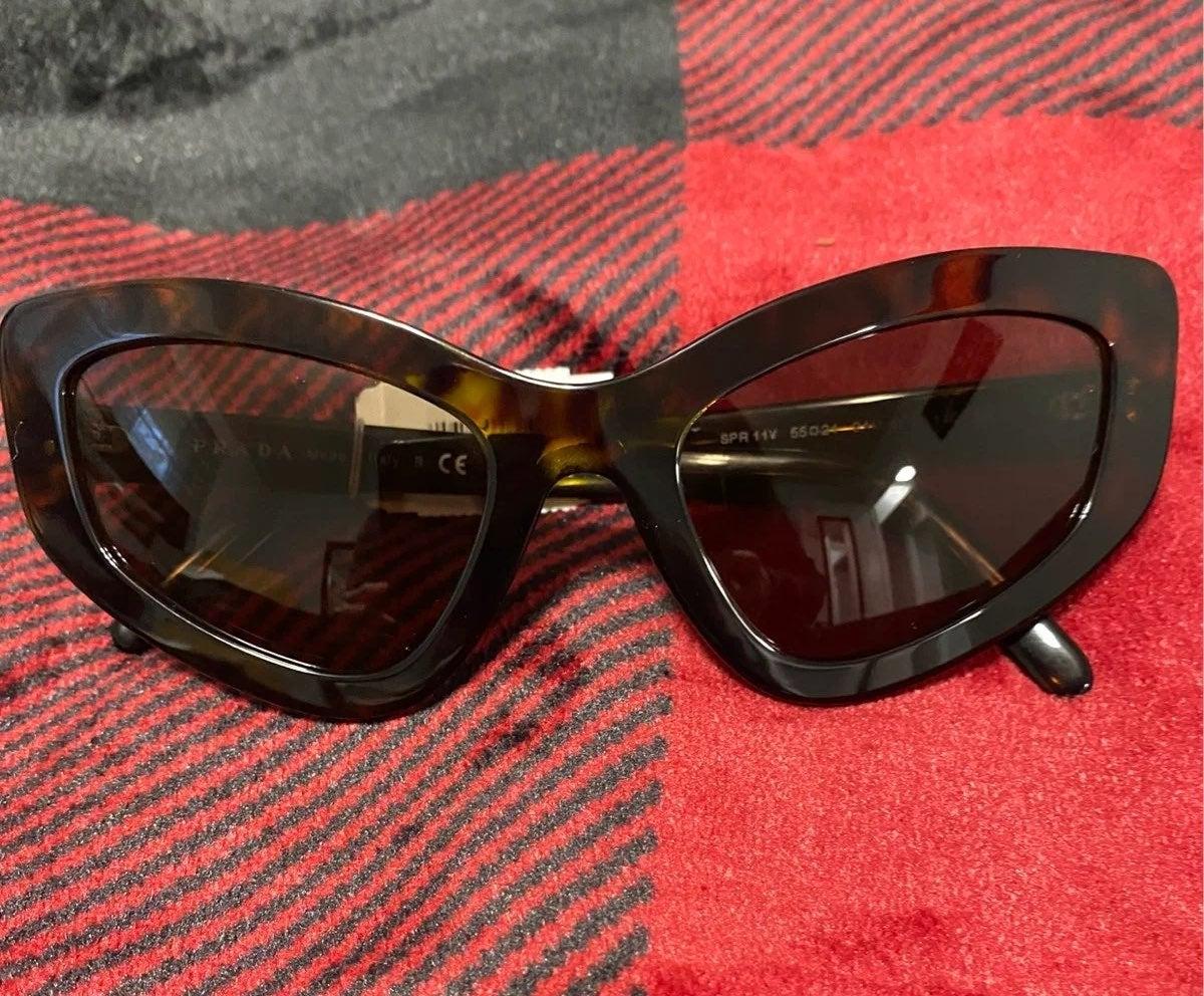 Prada Catwalk 55mm Cat Eye Sunglasses
