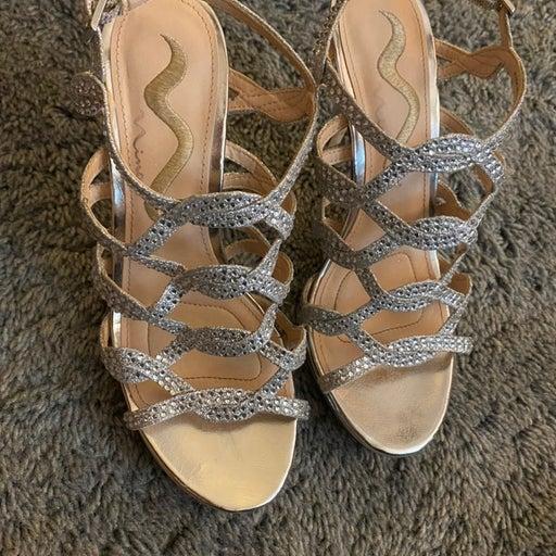Nina Sparkly Sandal Heels