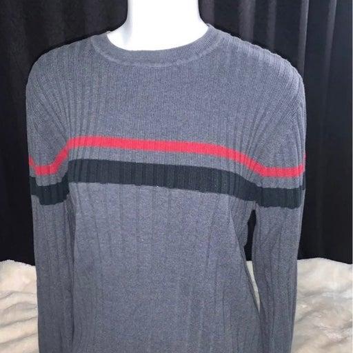 Mens Crazy Horse Knit Crewneck Sweater L