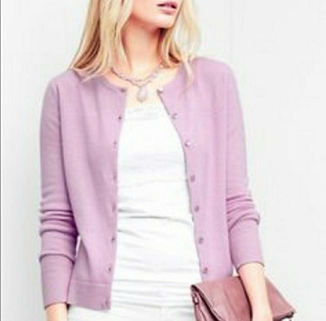 Lavender Cashmere Cardigan