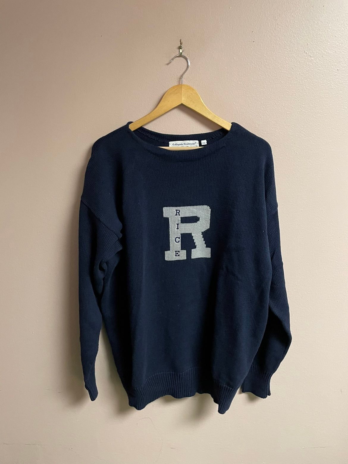 collegiate traditions sweater rice