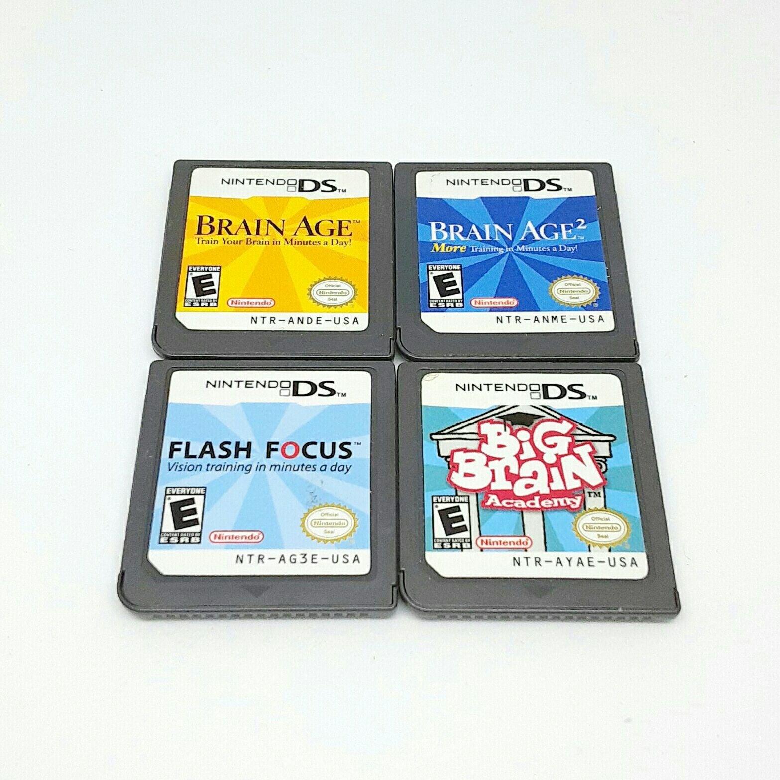 DS Games Flash Focus, Brain Age, etc.