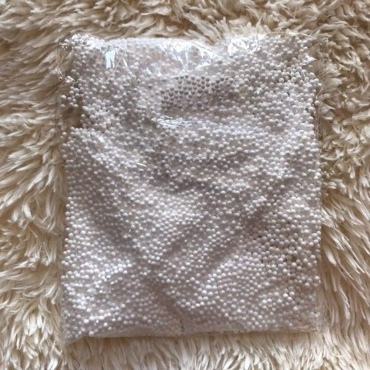Small White Foam Beads