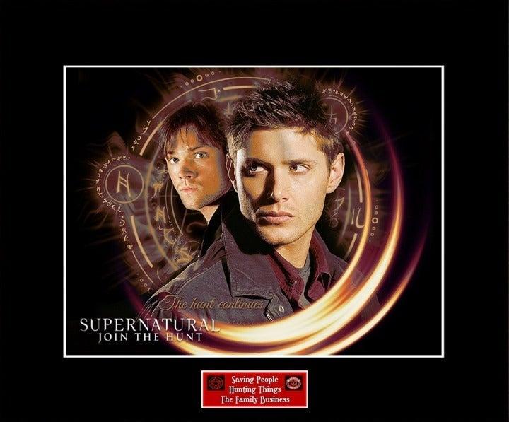 SUPERNATURAL Sam & Dean 11x14 Photo Mat