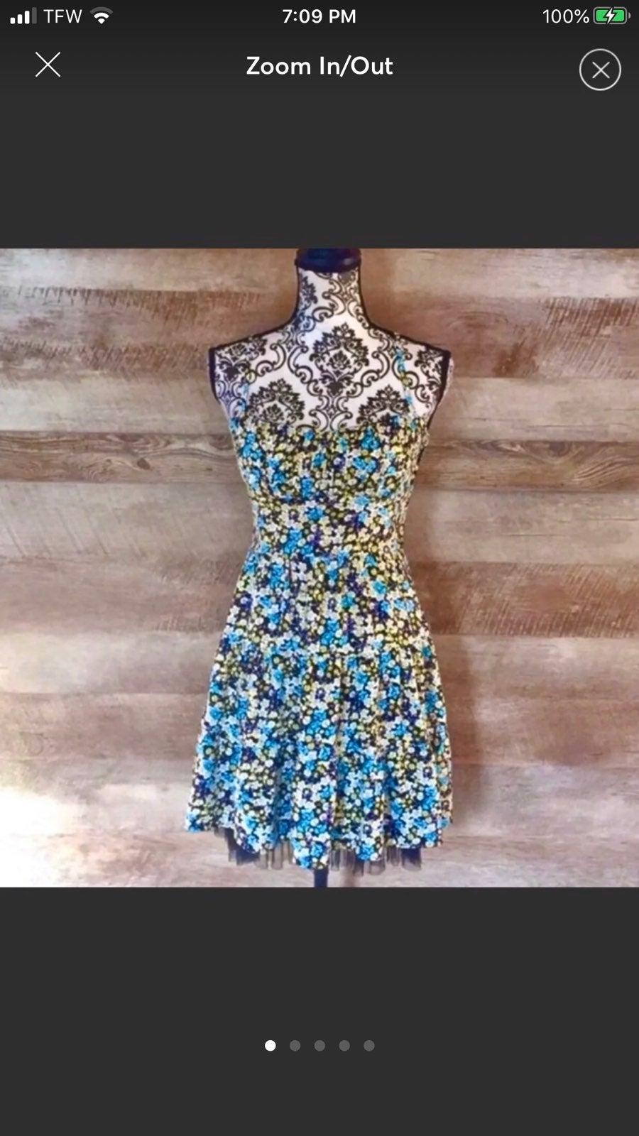 B Darlin Floral Petticoat Flare Dress
