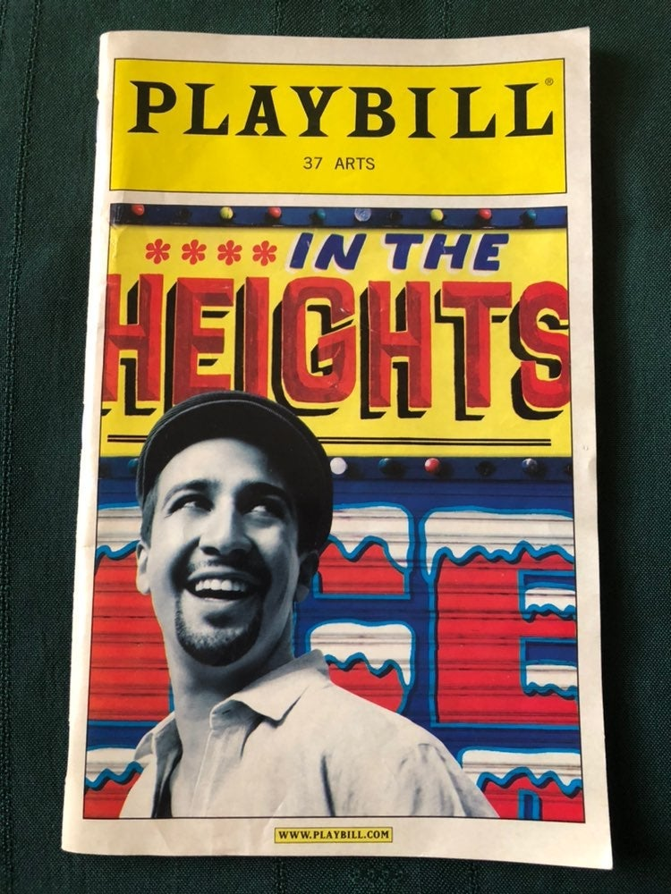"""ORIGINAL """"In the Heights"""" Playbill"""