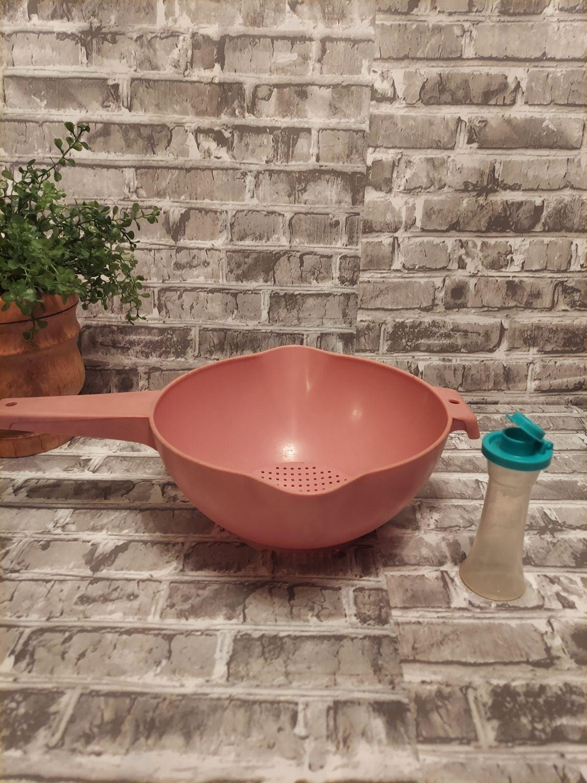 Vintage Tupperware pink strainer