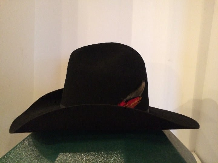 3 Hats. Resistol 4X, Stetson 4X, Rodeo King 5X Cowboy Hats