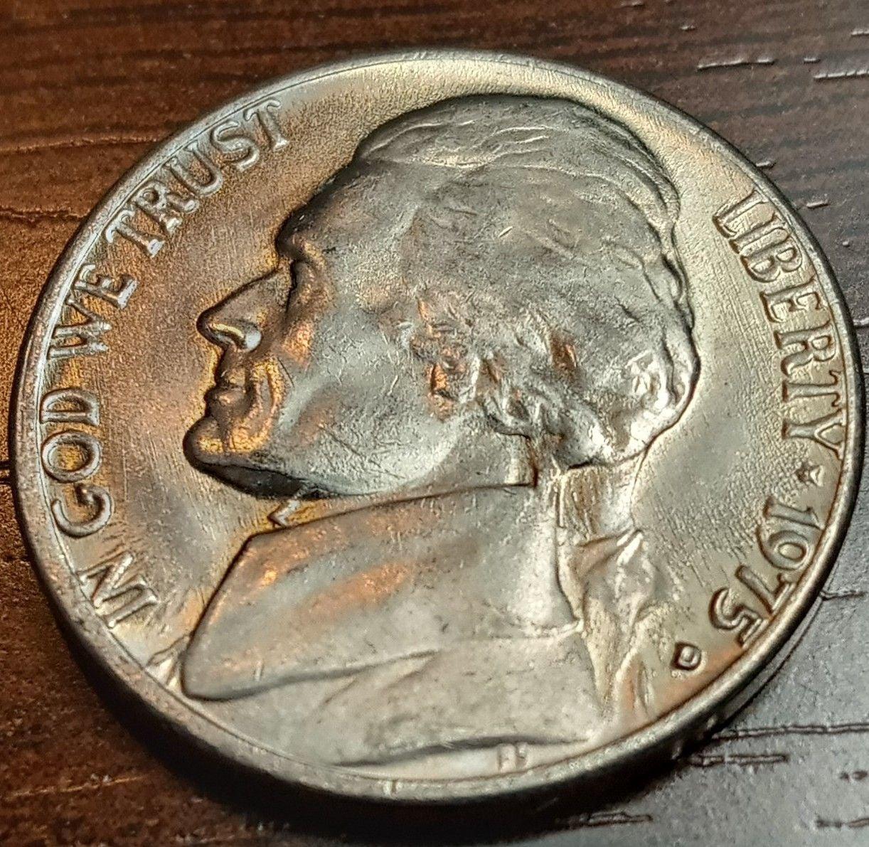 1975 D  Jefferson nickel Unc Gem
