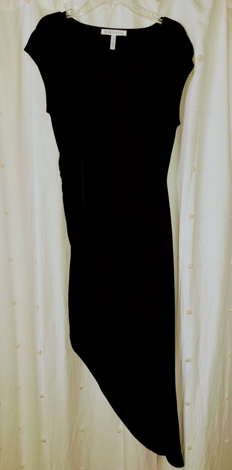 BCBG Dress black cocktail asymmetrical