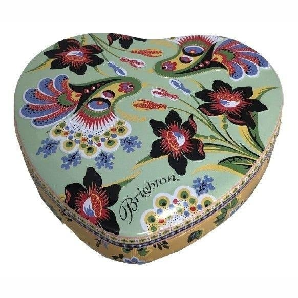 """Brighton Heart Shaped Tin 5"""" ONLY"""