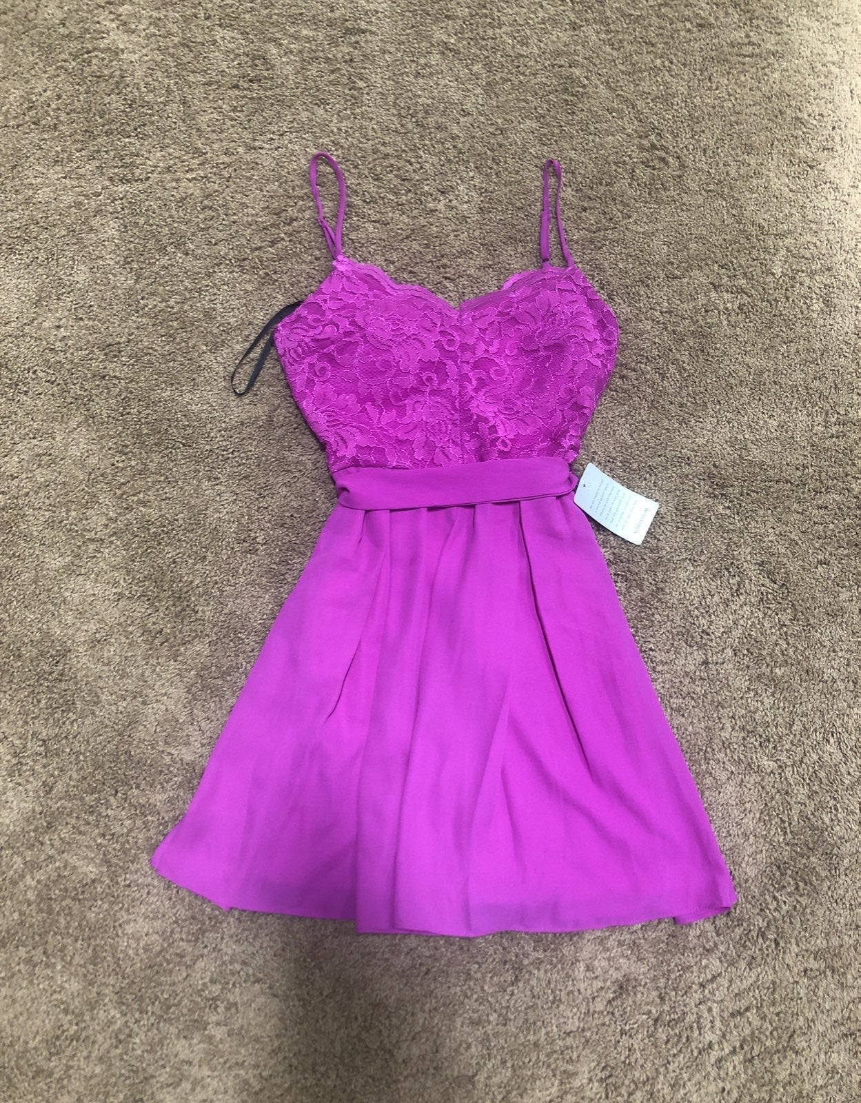 B. Darlin Nordstrom Lace Chiffon Dress