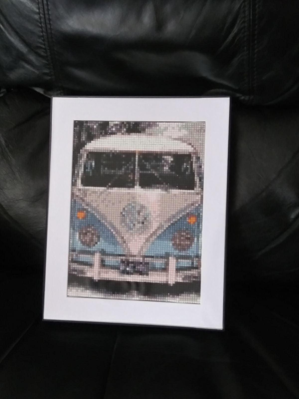 Vintage VW Bus Handmade Wall Art Decor