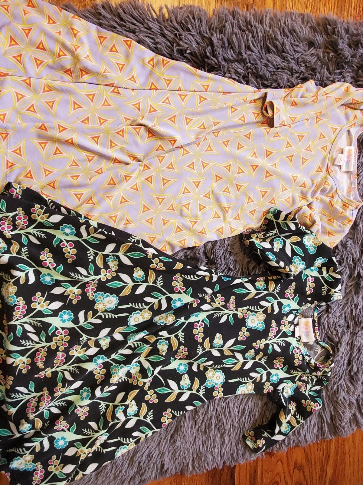 2 Lularoe girls size 4 dresses