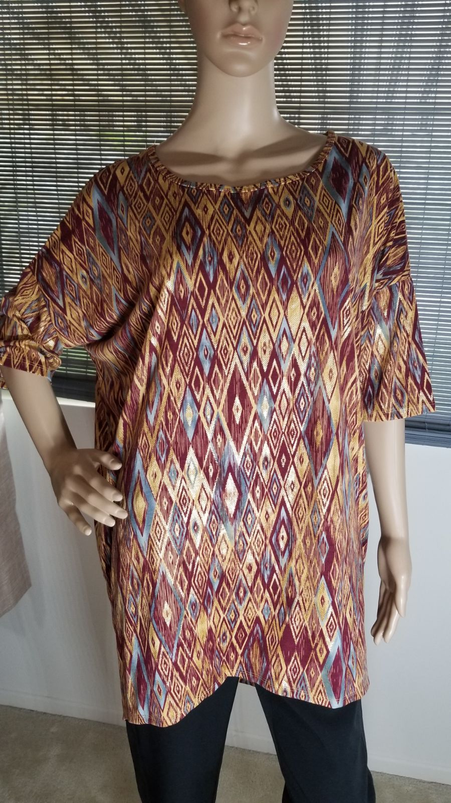 Lularoe IRMA metallic copper brown NWT L
