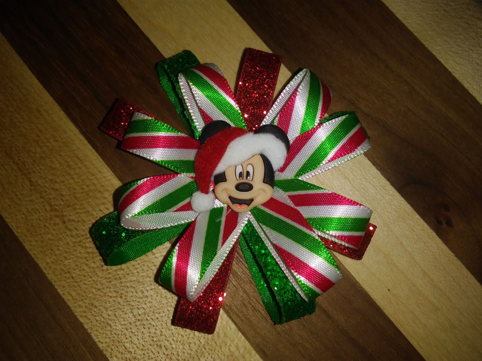 Mickey Mouse Christmas Hairbow