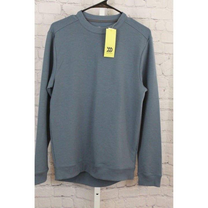 LIGHTWEIGHT CREWNECK PULLOVER BLUE XL