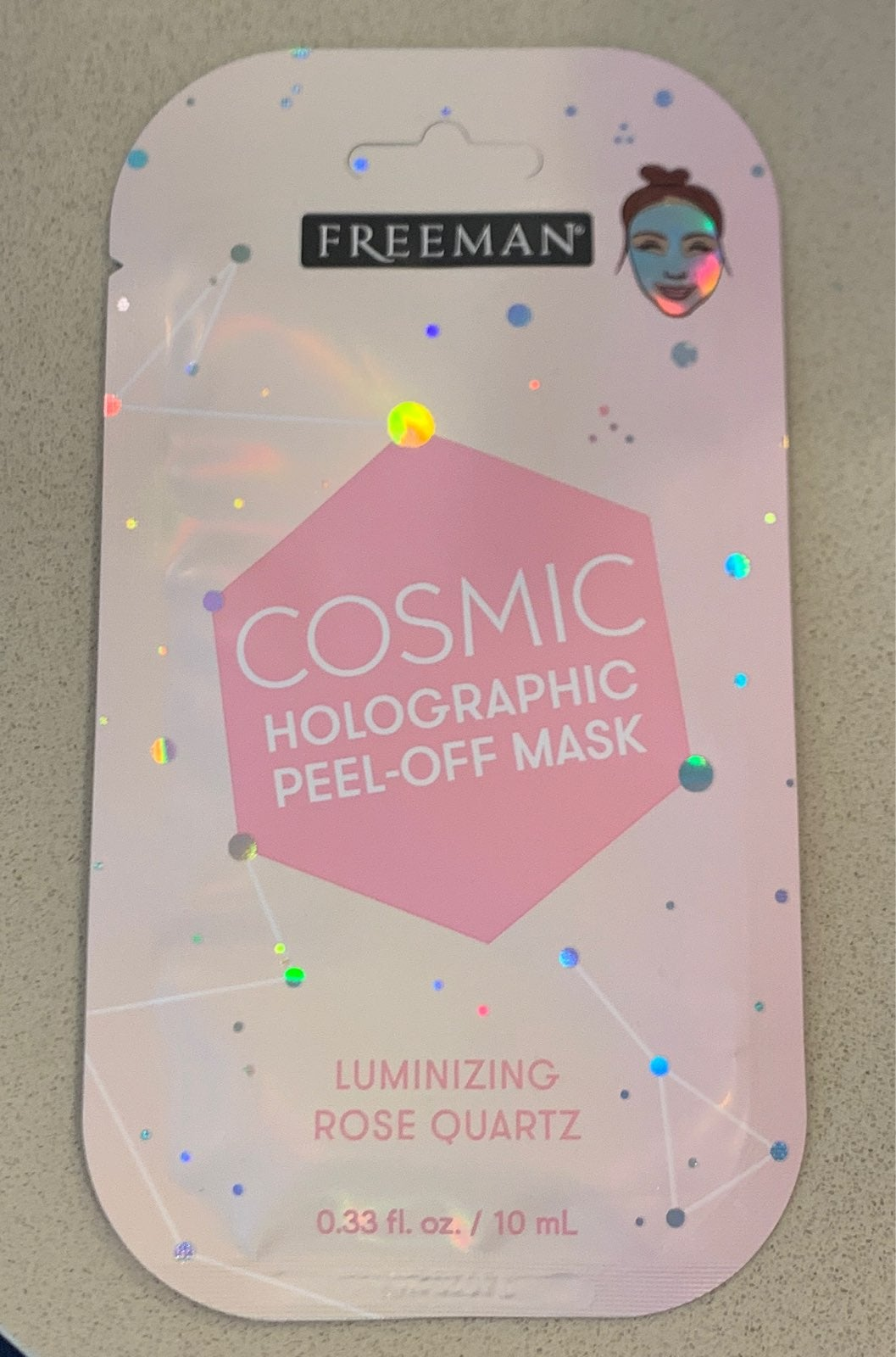 Cosmic Holographic Peel-Off Mask