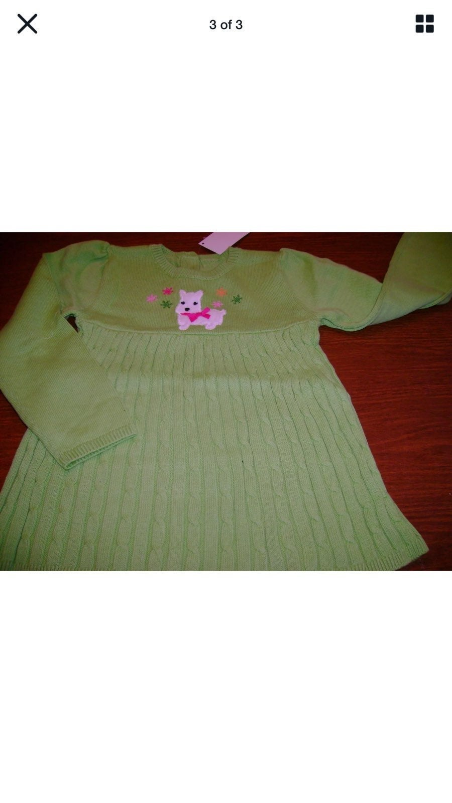 Nwt scotty dog sweater dress 5t 5 holida