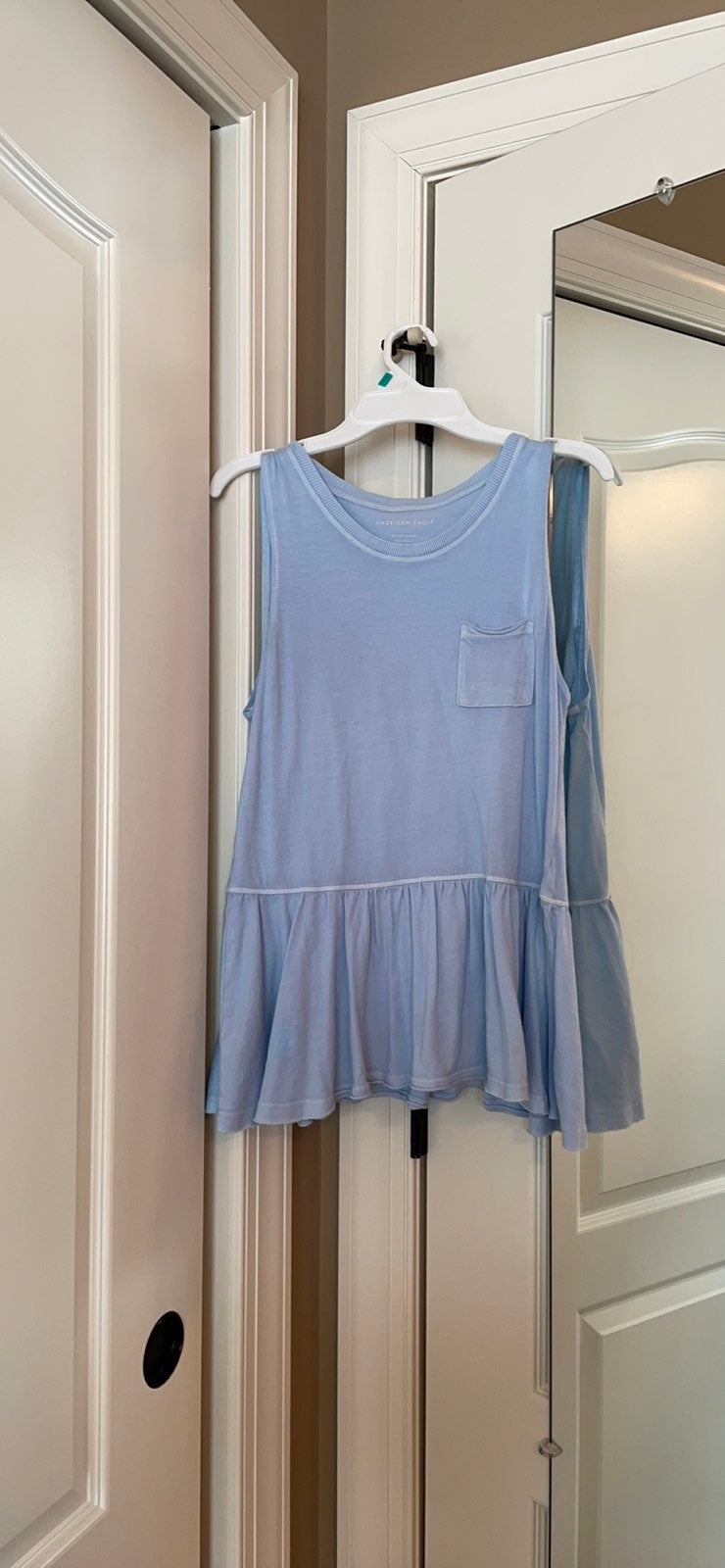 light blue american eagle tank top