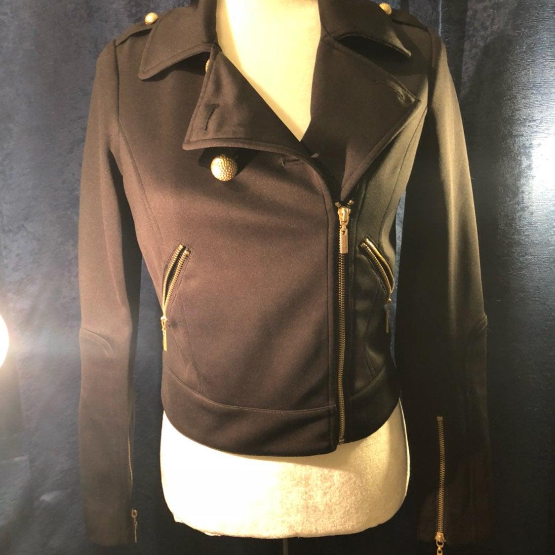 Bisou Bisou Moto Light Black Jacket XS