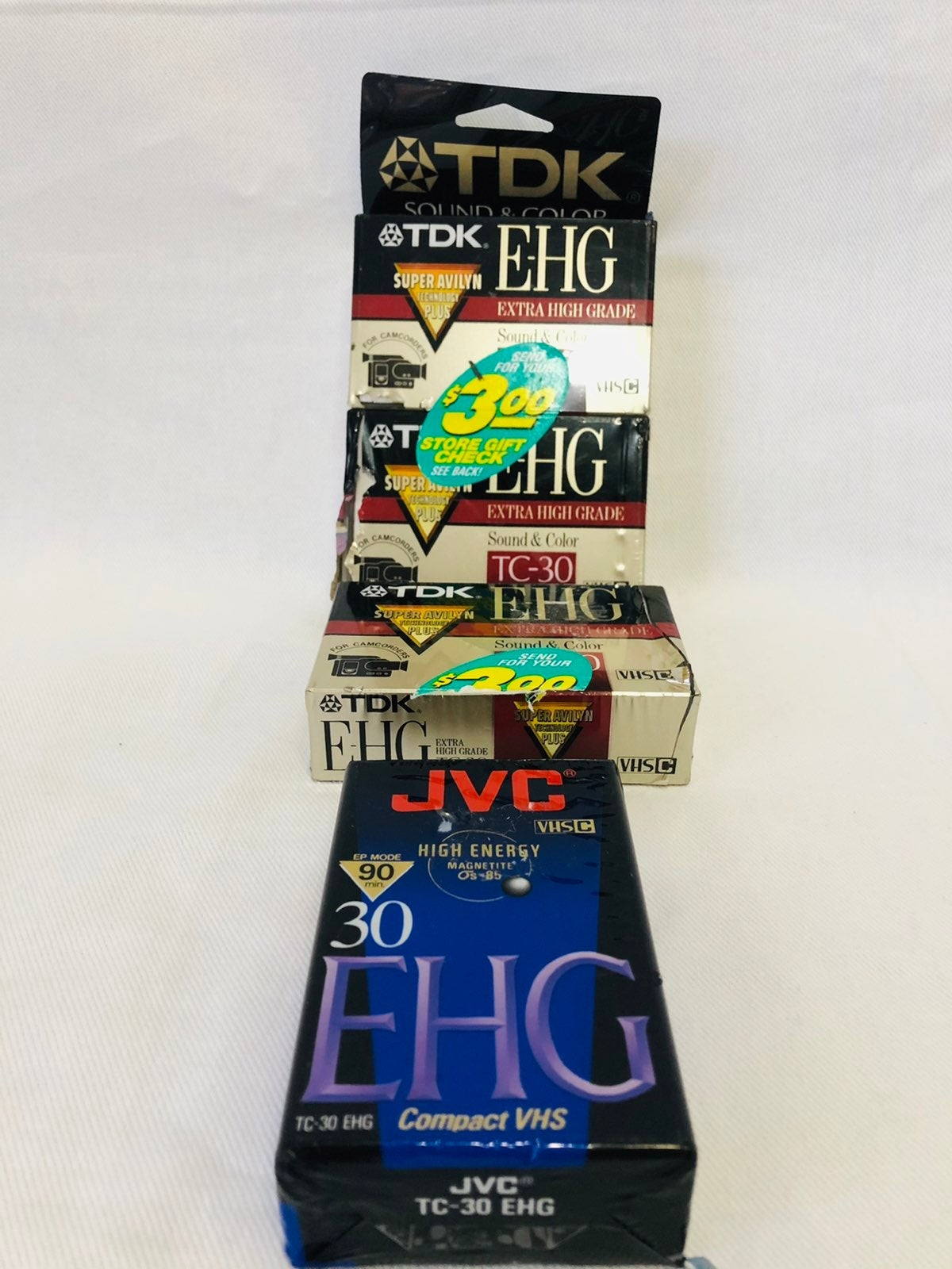 4 New compact VHS C discs.
