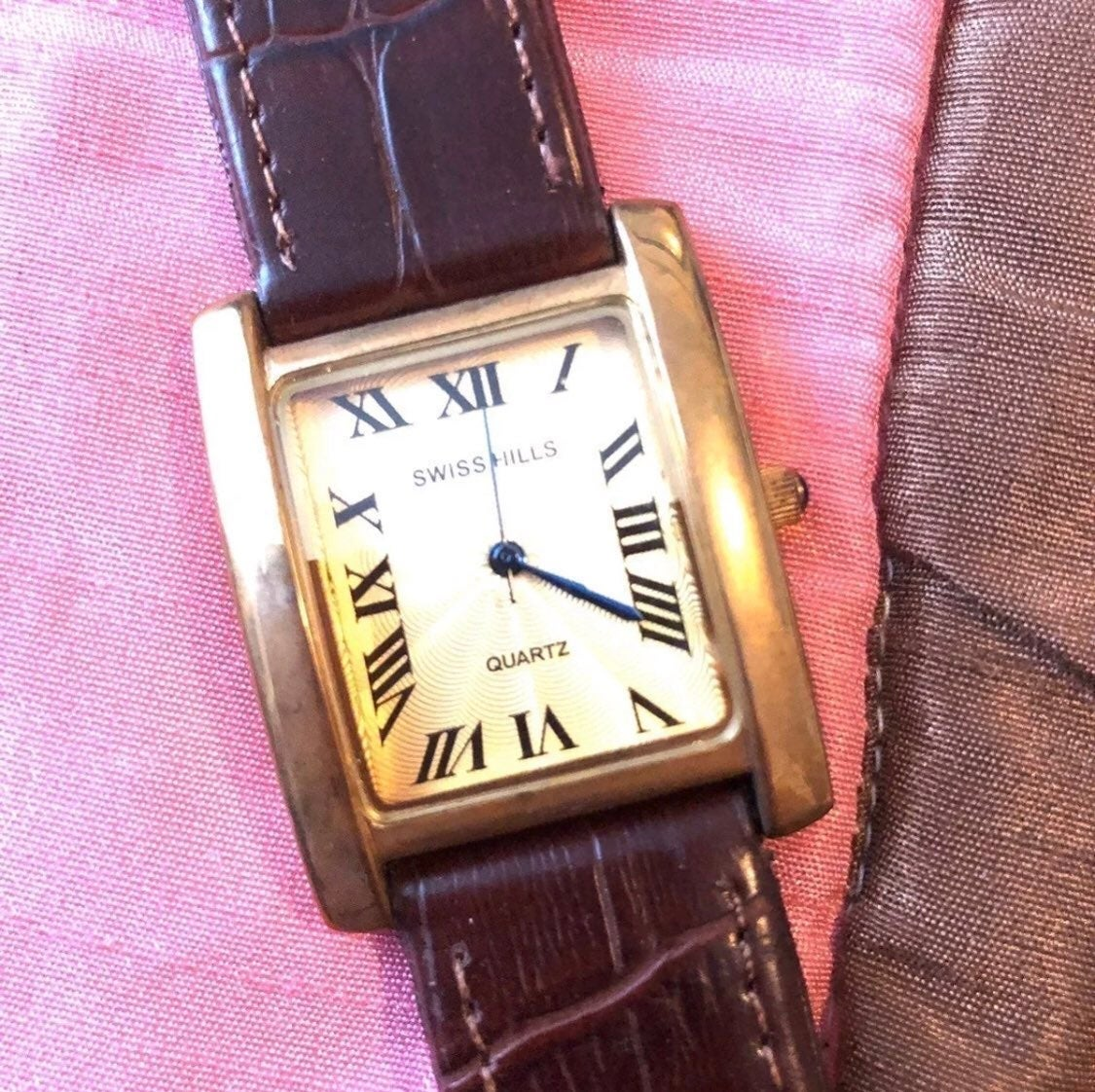 Swiss Hill watch leather strap - new