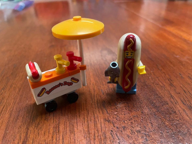 Lego City Hotdog Man with Cart