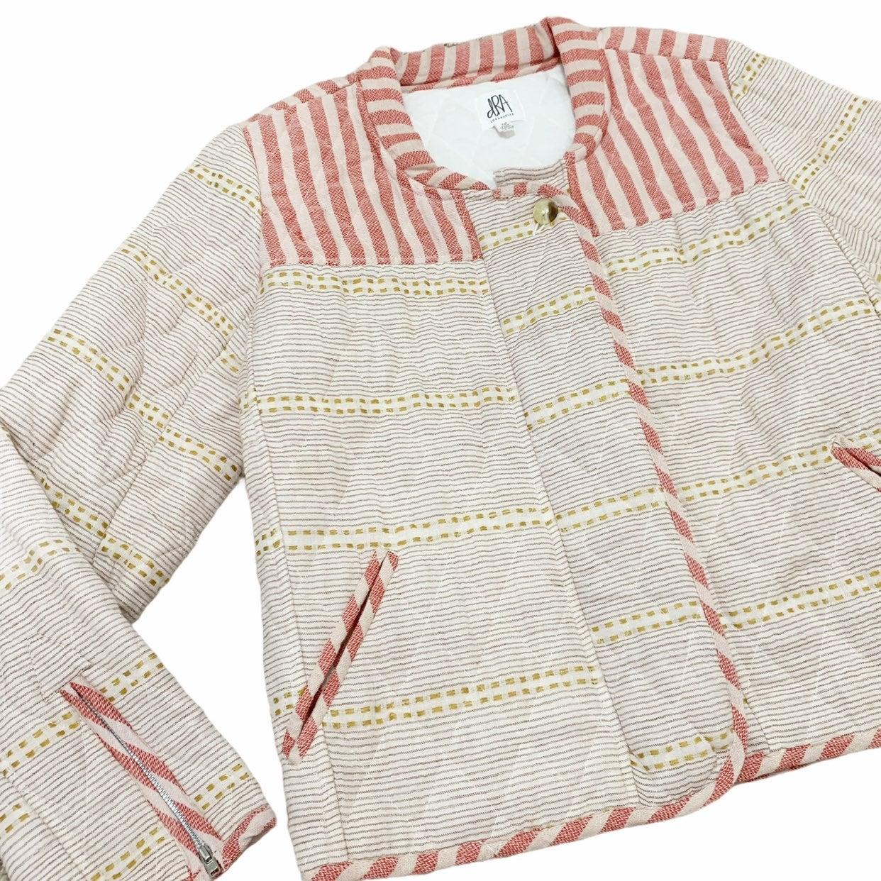 Anthro DRA Striped Jacket Coat Medium