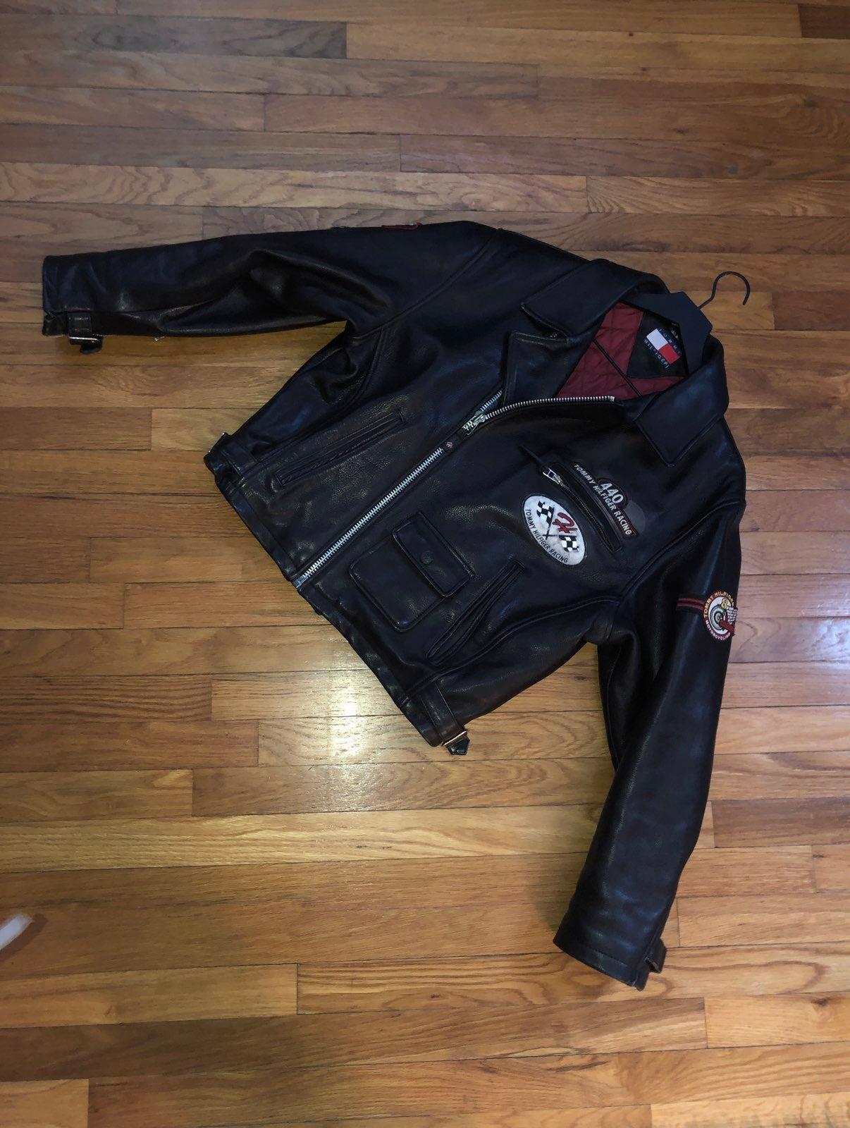 Men's vintage biker leather jacket