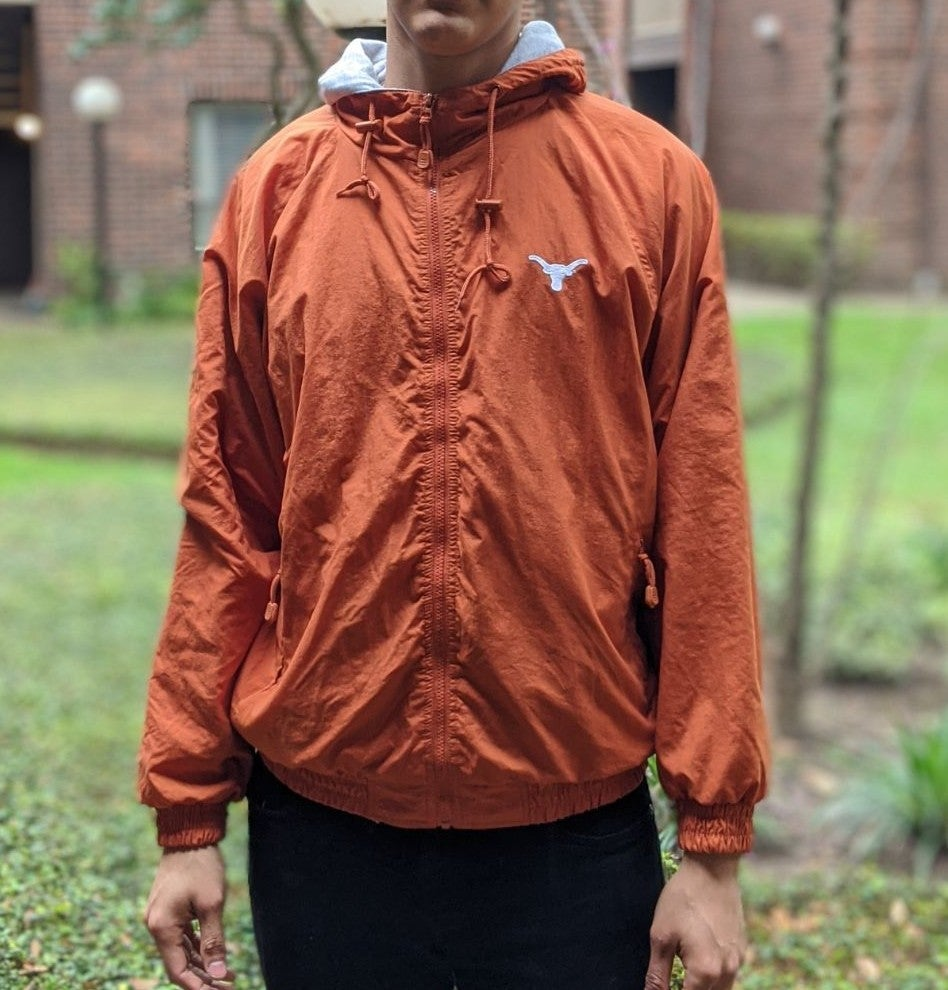Longhorn Zip up Hoodie Orange XL Weather