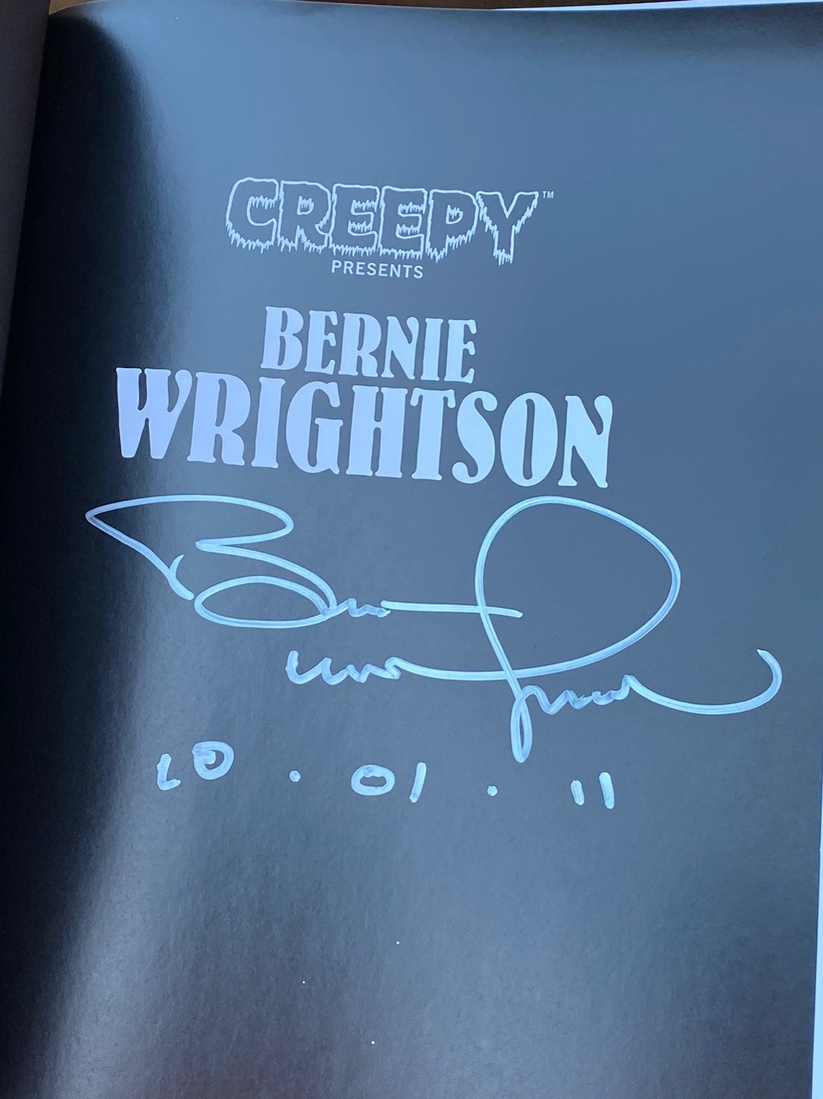 CREEPY PRESENTS SIGNED BERNIE WRIGHTSON
