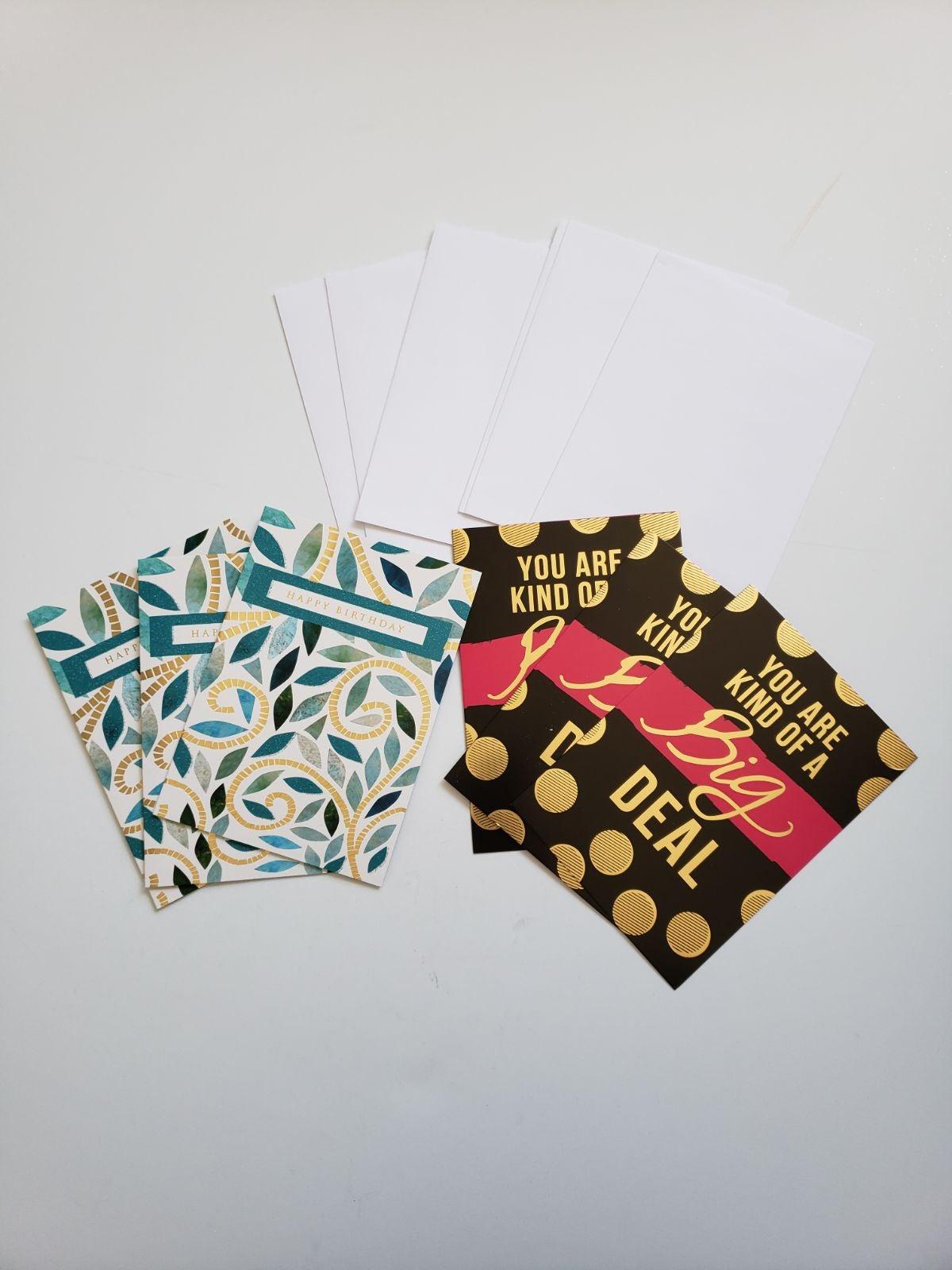 6 birthday cards- variety pack