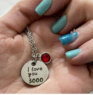 I Love You 3000 Times Necklace Iron Man