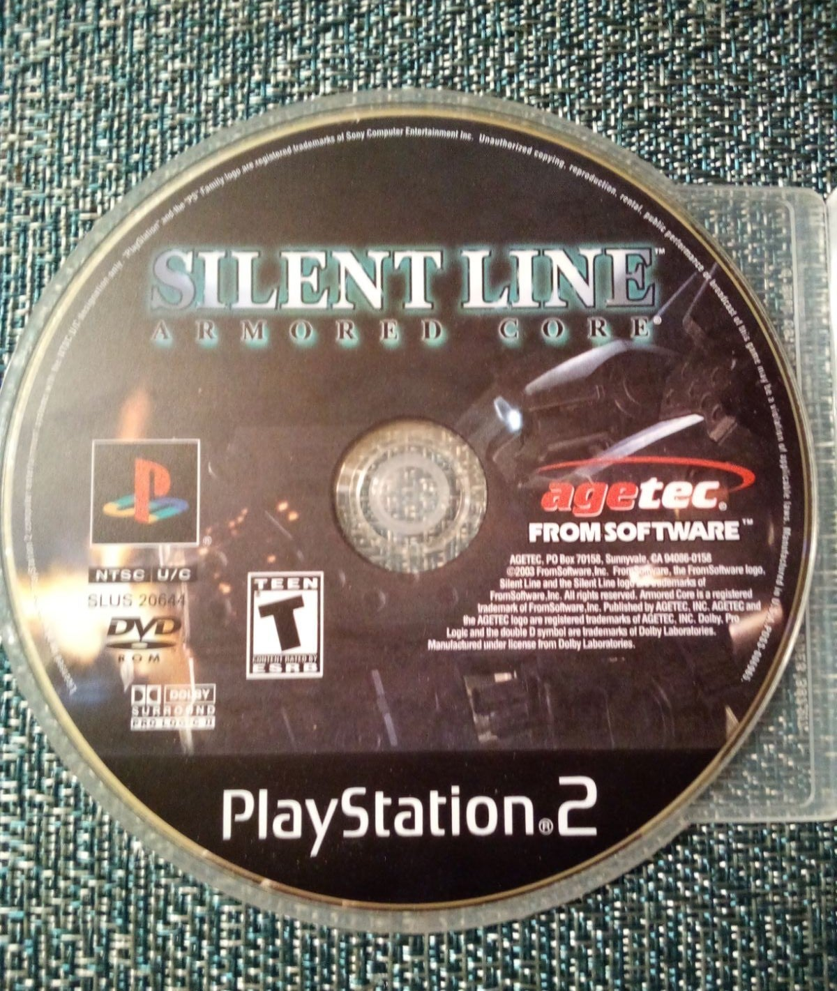 Silent Line Armored Core PS2 Videogame D